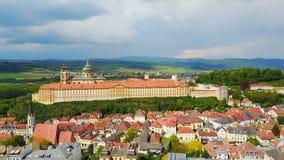 Melk Abbey Monastery, Austria stock footage