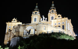 Melk Abbey by night Stock Photos