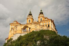 Melk abbey - wachaudal Fotografering för Bildbyråer