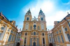 Melk abbotskloster, Stift, Österrike Fotografering för Bildbyråer