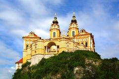 Melk Abtei, Österreich stockfotos