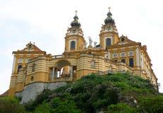 Melk-Abtei, herrliche UNESCO-Welterbestätte auf dem Gipfel von Melk Lizenzfreies Stockfoto