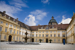 Melk - atrium of cloister Royalty Free Stock Image