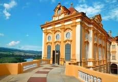 Melk, Austria, el 25 de julio de 2014: San Pedro y Paul Church en la abadía de Melk, Austria Imagenes de archivo