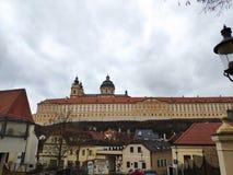 Melk, Austria - febrero de 2019: Hermosa vista de la abadía de Stift Melk Melk foto de archivo libre de regalías