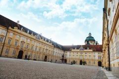 Melk, Austria - 8 luglio 2018: Monastero di Melk, benedettino Abb fotografia stock
