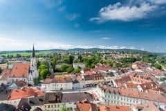 Melk, Austria. Melk town, Austria. Aerial view Royalty Free Stock Photo