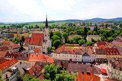 Melk, Austria. View over the old town of Melk, Austria Royalty Free Stock Image