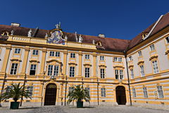 Melk Benedictine monastery. The abbey was founded in 1089 when Leopold II, Margrave of Austria gave one of his castles to Benedictine monks from Lambach Abbey. A stock photography