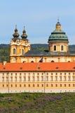 Melk - berühmte barocke Abtei (Stift Melk) Lizenzfreie Stockfotografie