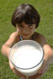 Melk in een glas Royalty-vrije Stock Afbeeldingen