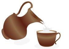 Melk in een kop Royalty-vrije Stock Afbeelding
