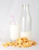 Melk en cornflakes Royalty-vrije Stock Fotografie