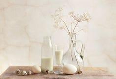 Melk en Eieren royalty-vrije stock fotografie