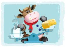 Melk en kaas Stock Fotografie