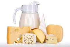Melk en kaas Royalty-vrije Stock Afbeeldingen