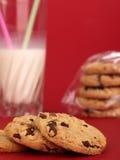 Melk en koekjes Royalty-vrije Stock Fotografie