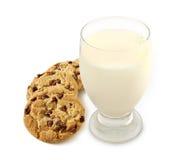 Melk en Koekjes Stock Foto