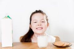 Melk en Koekjes Royalty-vrije Stock Foto