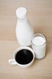 Melk en koffie royalty-vrije stock foto's