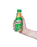 Melk en miloproductschot Royalty-vrije Stock Foto