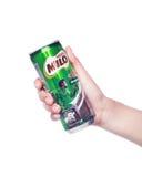 Melk en miloproductschot Stock Foto's