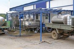 Melk en Zuivelfabriek Royalty-vrije Stock Foto's