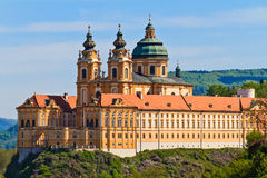 Melk - Famous Baroque Abbey (Stift Melk), Austria. Melk Abbey is an Austrian Benedictine abbey and one of the world's most famous monastic sites Stock Photography