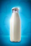 Melk-fles Royalty-vrije Stock Foto's
