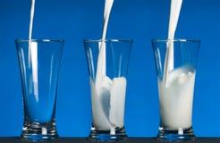 Melk in glas Royalty-vrije Stock Foto