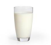 Melk in het glas Stock Foto