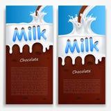 melk met chocolade Stock Fotografie