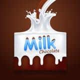 melk met chocolade Royalty-vrije Stock Fotografie
