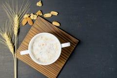Melk met graangewas Royalty-vrije Stock Foto