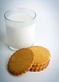 Melk met koekjes Royalty-vrije Stock Afbeeldingen