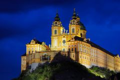 Melk by night Stock Image
