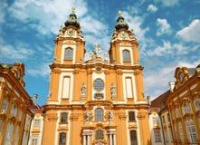 Melk, Oostenrijk, 25 Juli, 2014: St Peter en Paul Church in Melk-Abdij, Oostenrijk Royalty-vrije Stock Afbeeldingen
