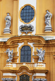 Melk opactwa kościół szczegóły w Niski Austria obrazy royalty free