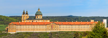 Melk Panorama - Famous Baroque Abbey Royalty Free Stock Photo