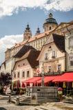 Melk, plaza principal de Austria Foto de archivo