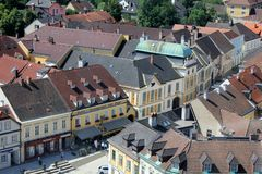 Melk streets and roofs Stock Photo