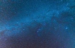 Melkachtig die manierheelal met sterren, nevel en melkweg ruimtedu wordt gevuld royalty-vrije stock foto