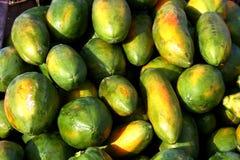 Melkachtig of papaja's stock fotografie