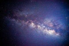 Melkachtige manier in de zomernacht Stock Foto