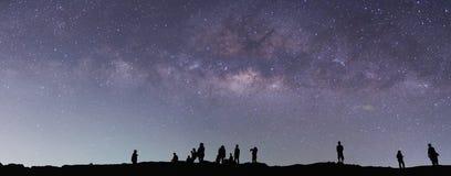 Melkachtige manier op de hemel stock fotografie