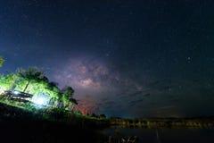 Melkachtige manier op de hemel stock foto