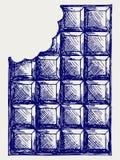 Melkchocola royalty-vrije illustratie