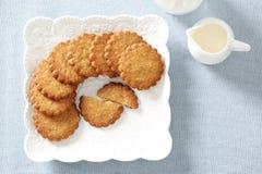 Melken Sie Kekse Stockbild