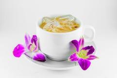 Melken Sie Tee stockfoto