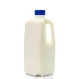 Melkfles met blud GLB op Witte Achtergrond wordt geïsoleerd die Royalty-vrije Stock Fotografie
